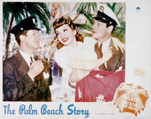 This is an image of Vintage Reproduction Lobby Card of The Palm Beach Story 296257