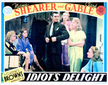 This is an image of Vintage Reproduction Lobby Card of Idiot's Delight 296261