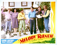 This is an image of Vintage Reproduction Lobby Card of Melody Ranch 296264