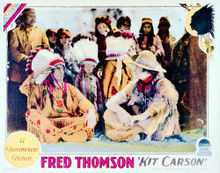 This is an image of Vintage Reproduction Lobby Card of Kit Carson 296265