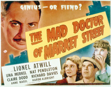 This is an image of Vintage Reproduction Lobby Card of The Mad Doctor on Market Street 296267