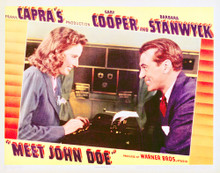 This is an image of Vintage Reproduction Lobby Card of Meet John Doe 296269