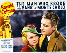 This is an image of Vintage Reproduction Lobby Card of The Man Who Broke the Bank at Monte Carlo 296273