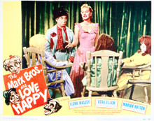 This is an image of Vintage Reproduction Lobby Card of Love Happy 296276