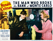 This is an image of Vintage Reproduction Lobby Card of The Man Who Broke the Bank at Monte Carlo 296279