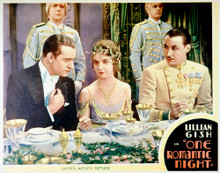 This is an image of Vintage Reproduction Lobby Card of One Romantic Night 296281