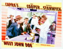 This is an image of Vintage Reproduction Lobby Card of Meet John Doe 296289