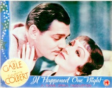 This is an image of Vintage Reproduction Lobby Card of It Happened One Night 296291
