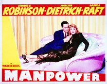This is an image of Vintage Reproduction Lobby Card of Manpower 296299