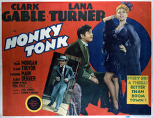 This is an image of Vintage Reproduction Lobby Card of Honky Tonk 296363