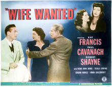 This is an image of Vintage Reproduction Lobby Card of Wife Wanted 296373