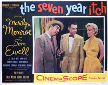 This is an image of Vintage Reproduction Lobby Card of The Seven Year Itch 296376