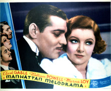 This is an image of Vintage Reproduction Lobby Card of Manhattan Melodrama 296379