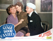 This is an image of Vintage Reproduction Lobby Card of Stage Door Canteen 296389