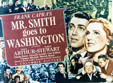 This is an image of Vintage Reproduction Lobby Card of Mr. Smith Goes to Washington 296390