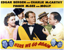 This is an image of Vintage Reproduction Lobby Card of Here We Go Again 296397