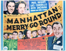 This is an image of Vintage Reproduction Lobby Card of Manhattan Merry Go Round 296401