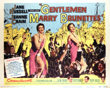 This is an image of Vintage Reproduction Lobby Card of Gentlemen Marry Brunettes 296426