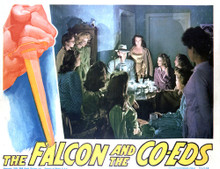 This is an image of Vintage Reproduction Lobby Card of The Falcon and the Co-Eds 296434