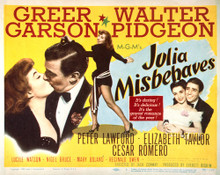 This is an image of Vintage Reproduction Lobby Card of Julia Misbehaves 296491