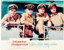 This is an image of Vintage Reproduction Lobby Card of Mister Roberts 296939