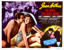 This is an image of Vintage Reproduction Lobby Card of The Devil and Miss Jones 297234