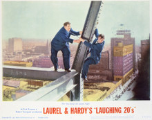 This is an image of Vintage Reproduction Lobby Card of Laurel and Hardy's Laughing 20's 296907
