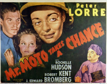 This is an image of Vintage Reproduction Lobby Card of Mr. Moto Takes a Chance 296910