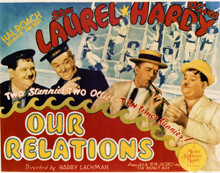 This is an image of Vintage Reproduction Lobby Card of Our Relations 296925