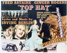 This is an image of Vintage Reproduction Lobby Card of Top Hat 296937