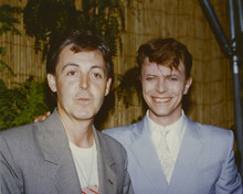 This is an image of Prints & Posters of David Bowie and Paul McCartney 299416