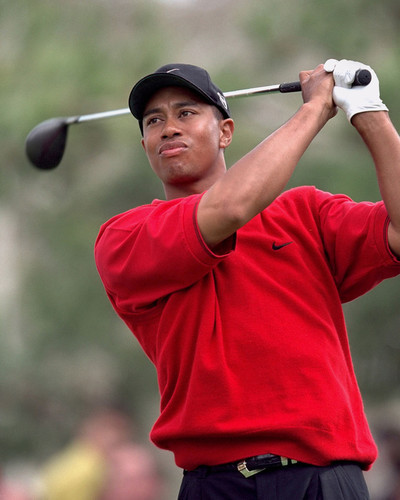 This is an image of Prints & Posters of Tiger Woods 299393