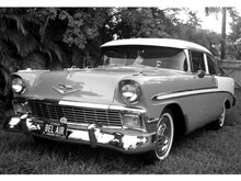 This is an image of Prints & Posters of 1956 Chevrolet Bel Air 2-Door Coupe 104082