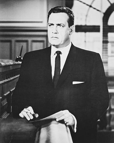 This is an image of 16521 Raymond Burr Photograph & Poster