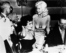 This is an image of 19019 Jayne Mansfield & Sophia Loren Photograph & Poster