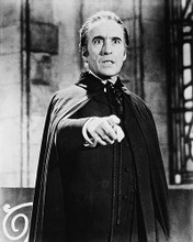 This is an image of 19344 Christopher Lee Photograph & Poster