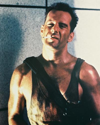 This is an image of 24652 Bruce Willis Photograph & Poster