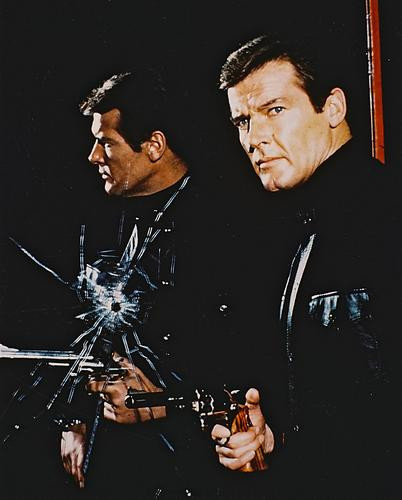 This is an image of 25643 Roger Moore Photograph & Poster
