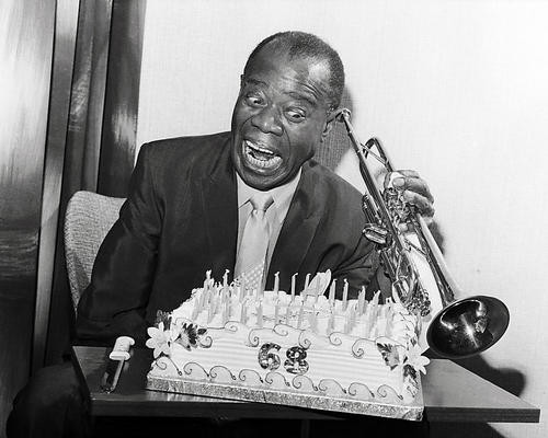 This is an image of 100043 Louis Armstrong Photograph & Poster