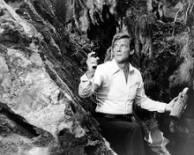 This is an image of 100463 Roger Moore Photograph & Poster