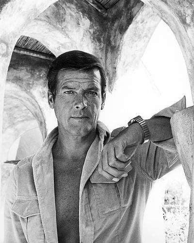 This is an image of 100501 Roger Moore Photograph & Poster