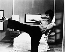 This is an image of 161074 Bruce Lee Photograph & Poster