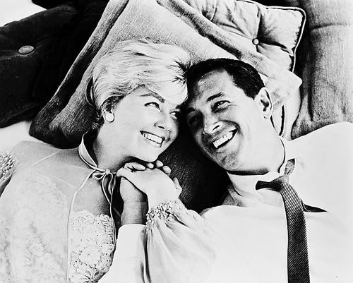 This is an image of 162106 Rock Hudson & Doris Day Photograph & Poster