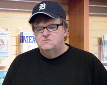 This is an image of 275554 Michael Moore Photograph & Poster