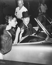 This is an image of 170227 Humphrey Bogart & Audrey Hepburn Photograph & Poster