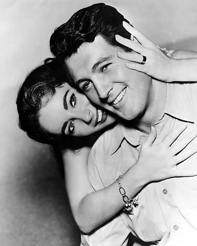 This is an image of 187730 Rock Hudson & Elizabeth Taylor Photograph & Poster