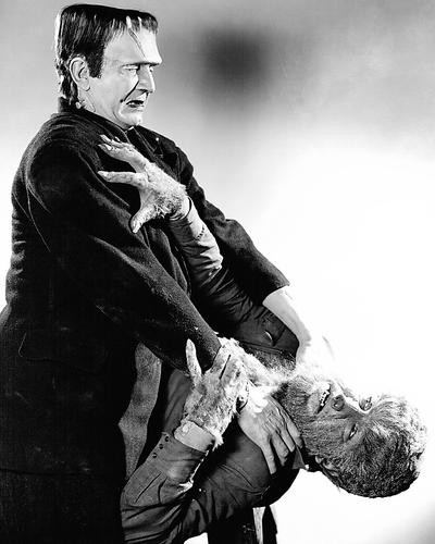 This is an image of 196179 Frankenstein Meets the Wolf Man Photograph & Poster