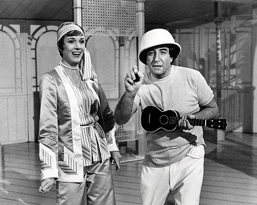 This is an image of 197104 Julie Andrews and Peter Sellers Photograph & Poster