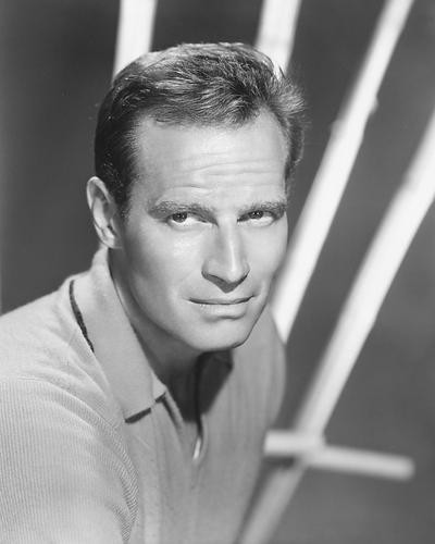 This is an image of 190312 Charlton Heston Photograph & Poster