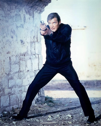 This is an image of 281313 Roger Moore Photograph & Poster